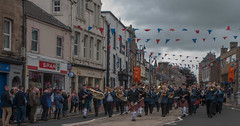just love a parade (BRYANJOHNSTONE) Tags: parade flags pippes drums musicians bands selkirk showsunday scottishborders