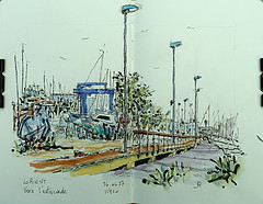 Vers l'estacade (Jean-Paul Rivière) Tags: watercolour aquarelle sketch pentel pittartistpen