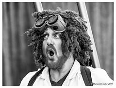 B57I8076-Professor-Pumpernickel-b&w (duncancooke.happydayz) Tags: professor pumpernickel another fine fest 2017 ulverton cumbria cumbrian festival festivals music street entertainment entertainer dave crossley