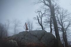 Dissolve (aleah michele) Tags: romance rock forest fairytale fantasy foggy forbiddenforest fog magic mist misty dissolve sky bluehour mountains