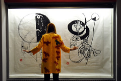 Antri (Eleni Maitou) Tags: exhibition printmaking girl backshot nikon nikond90 streetphotography friend people streetlife