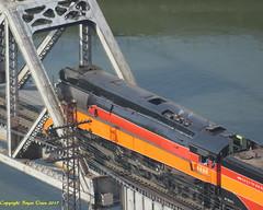 "4449 Fall Bridge (Bryan ""Powder"" Owen) Tags: bnsf oregontrunk 4449 daylight4449 southernpacific4449 bnsffallbridge sp4449"