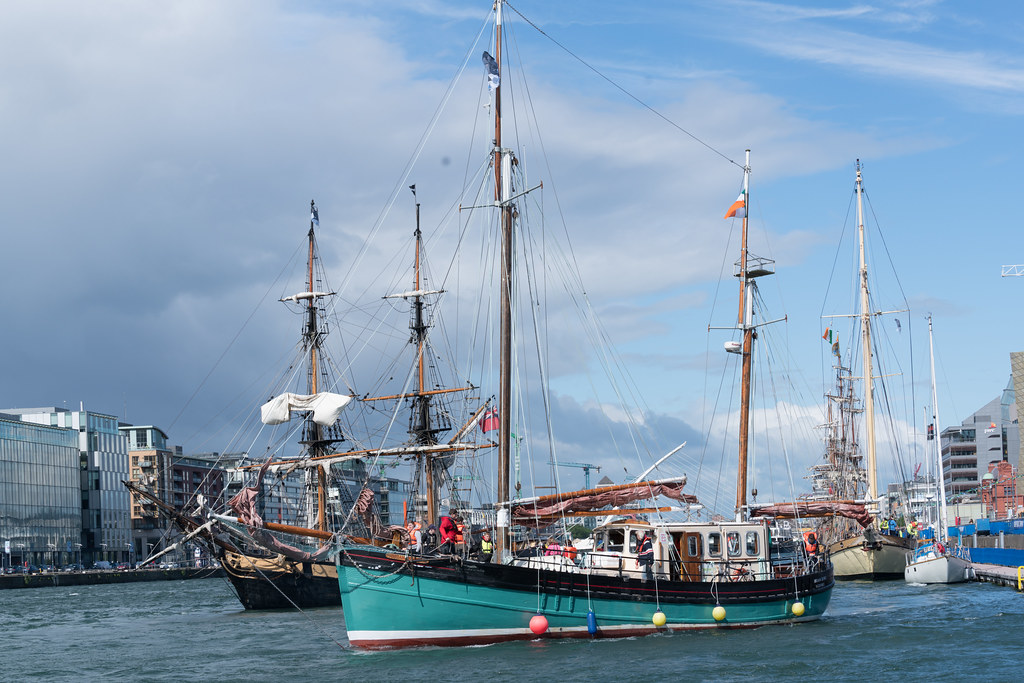 THE BRIAN BORU [SETS SAIL FROM DUBLIN AFTER THE DUBLIN PORT RIVERFEST 2017]-129410