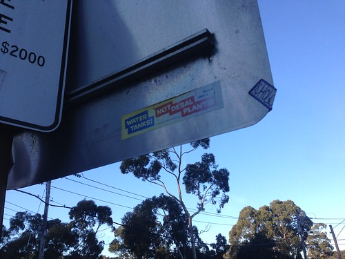 Anti-desal plant sticker, Belgrave