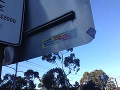 Anti-desal plant sticker, Belgrave (philip.mallis) Tags: sticker belgrave