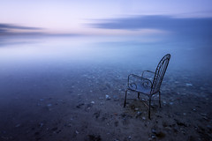 Waiting (Tony N.) Tags: waiting wait attendre patience horizon future poselongue longexposure juelsminde danemark denmark sea balticsea baltic merbaltique seascape chaise chair water eau mer evening d810 dorr vanguard