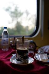 Morning on the train (Z!SL) Tags: beverage drinks drink tea coffee travel train railroad railway bokeh bokehwhores dof depthoffield sonyphotographing sony sonnar sonnarte1824 sonnar2418za sel24f18za sel24f18z sonyflickraward