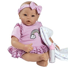 """Adora BabyTime Lavender 16"""" Girl 3 Piece Weighted Play Doll Gift Set for Toddlers 3+ Includes Bottle & Blanket Snuggle Soft Huggable Vinyl Toy (saidkam29) Tags: adora babytime blanket bottle doll gift girl huggable includes lavender piece play snuggle soft toddlers vinyl weighted"""