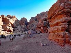 walking Petra Canyon (werner boehm *) Tags: wernerboehm petra jordan canyon mountains desert
