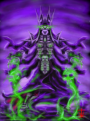 Undead Sorceress (RedRoofArt) Tags: drawingbox art drawing fantasy undead skeleton magic purple ghost
