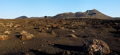 Moon Landscape (RafalZych) Tags: volcano volcanic spain canary island islands moon landscape national park parque lanzarote golden hour panoramic panorama fuji x100 fujifilm stitch stitched lava field fields