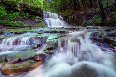 Cascade (ascholtz101) Tags: 2017 adobelightroomcc andrewscholtz broomecounty centralny centralnewyork dri grayscreek ibmglen instamask johnsoncity ny nys newyork newyorkstate nikond7200 rayapro tokina1116mmf28atx116prodxii us usa union upstateny upstatenewyork ascholtz101 dynamicrangeincrease exposureblending landscape nature outdoors outside superwideangle ultrawideangle water waterfalls wideangle woods stream creek brook watermancenter watermanconservationeducationcenter forest