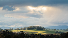 Winter sky Sunset Warragul (laurie.g.w) Tags: winter sky sunset warragul westgippsland victoria australia country hills green pasture storm cloud eosm mirrorless weather today