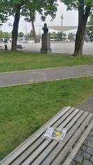 Bookcrossing in the park. (zimort) Tags: bok book bookcrossing wildrelease gjøvik norge norway benk bench park skatepark