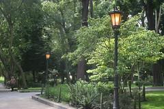 Campo de San Francisco (Jusotil_1943) Tags: 250517 luces farolas parque bordillos oviedo arboles trees