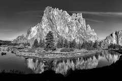 Catching the Light II (Philip Kuntz) Tags: bw blackandwhite mono monochrome smithrock crookedriver reflections light terrebonne oregon