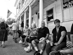 The Sitting Wall (BadBlackdog9) Tags: mesopotamia oxroast ohio amishcountry amish mennonite streetphotography peoplewatching generalstore smalltown town towncenter rural historical endofthecommons