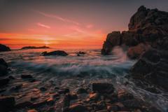 Elle arrive ! (Francois Le Rumeur) Tags: wave vague bretagne france sunset coucherdesoleil 4k hd brittany diben le sea mer ocean seascape hank you