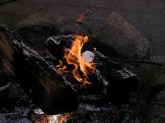 17 Roasting Marshmallows (megatti) Tags: christmas fire lahaska marshmallow pa peddlersvillage pennsylvania roasting