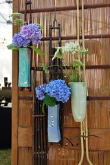 IMG_9217 (2) (manalbukhari) Tags: flower vase hydrangea blue white bamboo glass ceramic beautiful art for sale california show