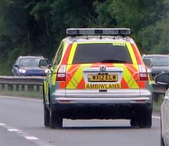 Welsh Ambulance ( Ambiwlans )Service NHS Trust (sab89) Tags: welsh ambulance ambiwlans service nhs trust honda crv wx12 elw nk662 a55 wales clwyd