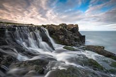 Precious Falls (Dani℮l) Tags: northern ireland waterfall water ocean causeway coast daniel bosma rocky volcanic landscape skycap clouds flow stream dunseverick nature atlantic europe