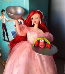 Bon Appétit! (Richard Zimmons) Tags: ariel doll barbie mattel little mermaid princess sebastian