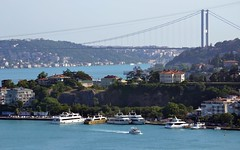 Bosphorus (Koutai) Tags: bosphorus bridge istanbul july 15 europe turkey tourqoise city architecture modernarchitecture architecturephotography dslr dslrphotography nikon d3100 nikond3100 digital urban urbanphotograhpy marmara boğaz boğaziçi köprüsü