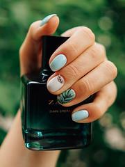 (yakovleva_iam) Tags: french manicure mails zara sheet foliage nailart