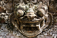 Ubud Palace (MelindaChan ^..^) Tags: bali indonesia 印尼 巴里島 temple indian chanmelmel mel melinda melindachan heritage culture religion life worship building architecture hindu purisaren ubudpalace ubud palace sculpture people