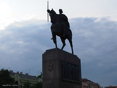 King Tomislav riding a horse statue