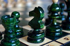 P52 Week 21   Green (Steph*Powell) Tags: chess knight bishop rook castle wooden green boardgame nikond5100