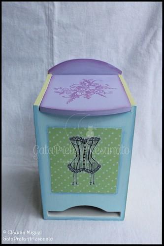 "Maleta para manicure e caixa para pensos ""Sweet Colors"""