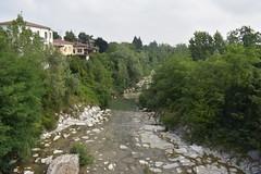 Castell'Arquato (CesareZucco) Tags: ponte bridge river fiume italia italy castellarquato panorama