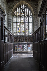 Haddon Hall (TheDavePhotoAlbum) Tags: haddon hall medieval tudor stately home bakewell derbyshire chapel window church
