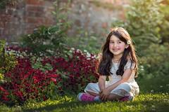 Evening light (Aga Wlodarczak) Tags: outdoor outdoors portrait girl naturallight sunset goldenhour backlit rimlight garden flowers child children canon 6d 135mm 135mmf2