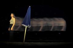 [ Sono quello che ho vissuto - I am what I lived ] DSC_0479.3.jinkoll (jinkoll) Tags: portrait girl gal umbrella sea sand beach exposure time blue night light ghost stars skin