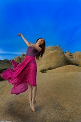 As the Music Plays Again - Joshua Tree National Park with Marine de Vachon (Kent Freeman) Tags: usm l f4 ef1740mm iii mark 5d eos canon sun set sunset vachon de marine park national tree joshua ballet urban rotolight neo