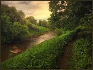 Evening .River Tarusa.