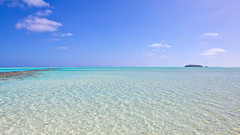 Horizon ... One Foot Island (07/11) (geemuses) Tags: aitutaki cookislands aitutakilagoon water sea ocean lagoon scenic nature green blue palms palmtrees sand beauty landscape landscapes street candid onefootisland australasia pacific southpacific beach beaches coconuts color colors colour