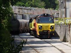 70817 Moorswater (Marky7890) Tags: colasrail 70817 class70 6c35 moorswater liskeard cornwall railway train