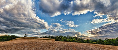 IMG_4085-88Ptzl1TBbLGER (ultravivid imaging) Tags: ultravividimaging ultra vivid imaging ultravivid colorful canon canon5dmk2 clouds sunsetclouds stormclouds rural scenic vista evening summer pennsylvania pa panoramic fields farm