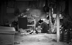 While Mama works (ShaggyJack) Tags: monochrome bw street thailand rural
