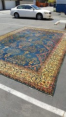 "LARGE ANTIQUE INDO-PERSIAN CARPET. • <a style=""font-size:0.8em;"" href=""http://www.flickr.com/photos/51721355@N02/35324619262/"" target=""_blank"">View on Flickr</a>"