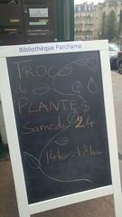 Annonce de troc (So_P) Tags: troc de plantes ardoise bibliothèque library fleur flower
