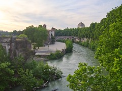 Ponte Cestio (Part II) - Rome (mikehaui60) Tags: olympuspenepm2 pen epm2 mft rome pontecestio tiber river italy goldenhour dreamy luminar tiberriver postcardphotography ancientcities