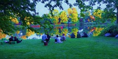 Hanging by the Lake in Freetown Christiania (dodagp) Tags: denmark copenhagen christiania freetownchristiania lakesincnristiania waitingforthesummersolstice2017 midsummer2017