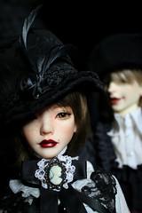 steampunk couple (lauradavison) Tags: bjd sd resin artist ooak doll dollmore zaoll luv muse steampunk victorian portrait miracledoll vic vampire
