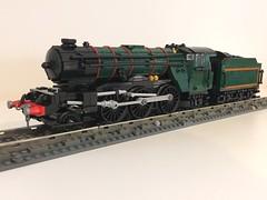 LEGO LNER/BR Gresley V2 (Britishbricks) Tags: moc train locomotive engine steam gresley v2 br lner lego
