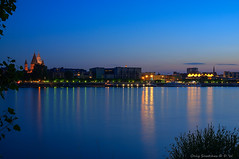Mainz - bye, bye blue skies (Only Snatches) Tags: abend adenauerufer blauestunde bluehour deutschland fluss germany langzeitaufnahme longshot mainz mainzcathedral mainzerdom nacht nachtaufnahme natur rathaus rhein rheingoldhalle rheinlandpfalz rhine rhinelandpalatinate river spiegelung stquintin wasser cityhall evening nature night nightscene reflection water wiesbaden hessen karmelitenkloster